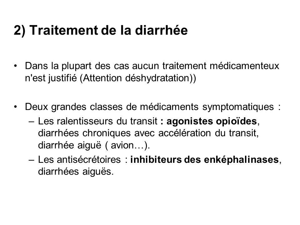 2) Traitement de la diarrhée