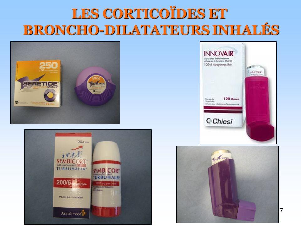 BRONCHO-DILATATEURS INHALÉS
