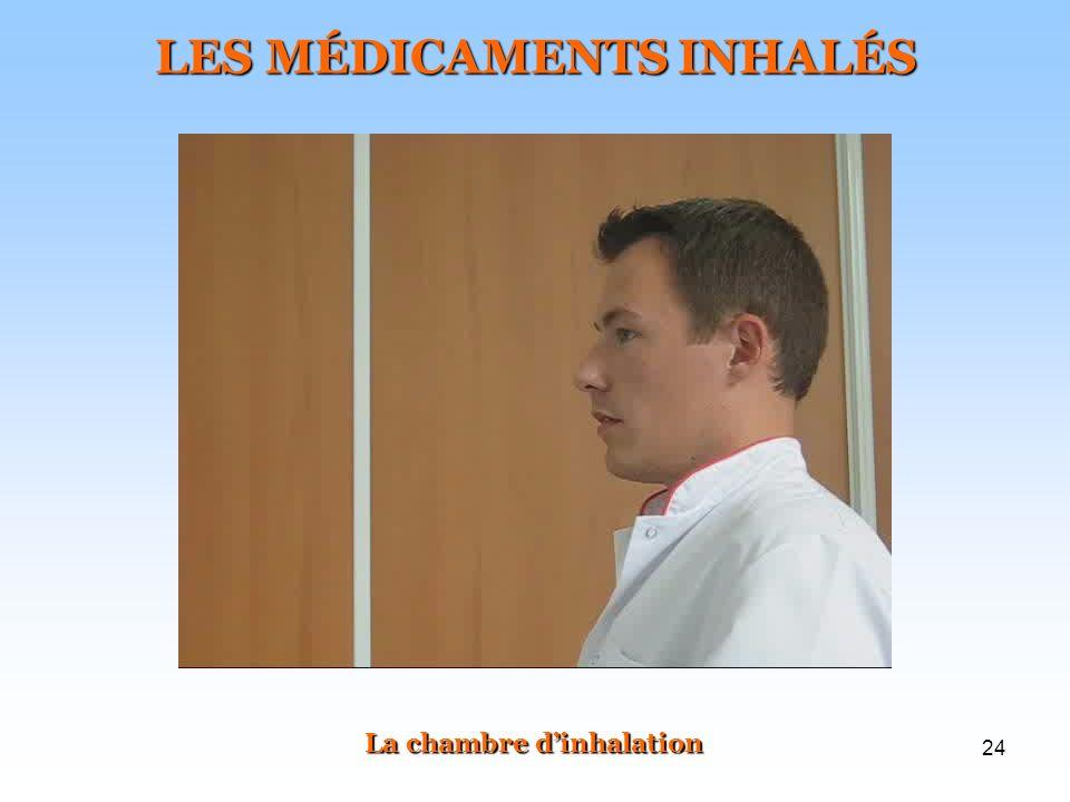 LES MÉDICAMENTS INHALÉS La chambre d'inhalation