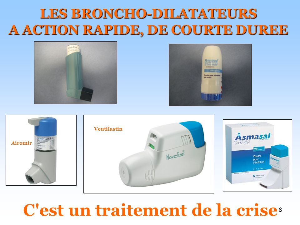 LES BRONCHO-DILATATEURS A ACTION RAPIDE, DE COURTE DUREE