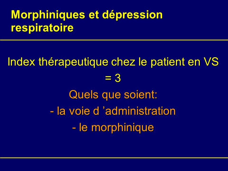 Morphiniques et dépression respiratoire