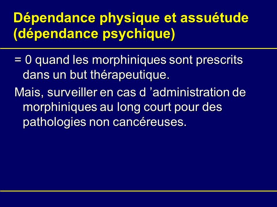 Dépendance physique et assuétude (dépendance psychique)
