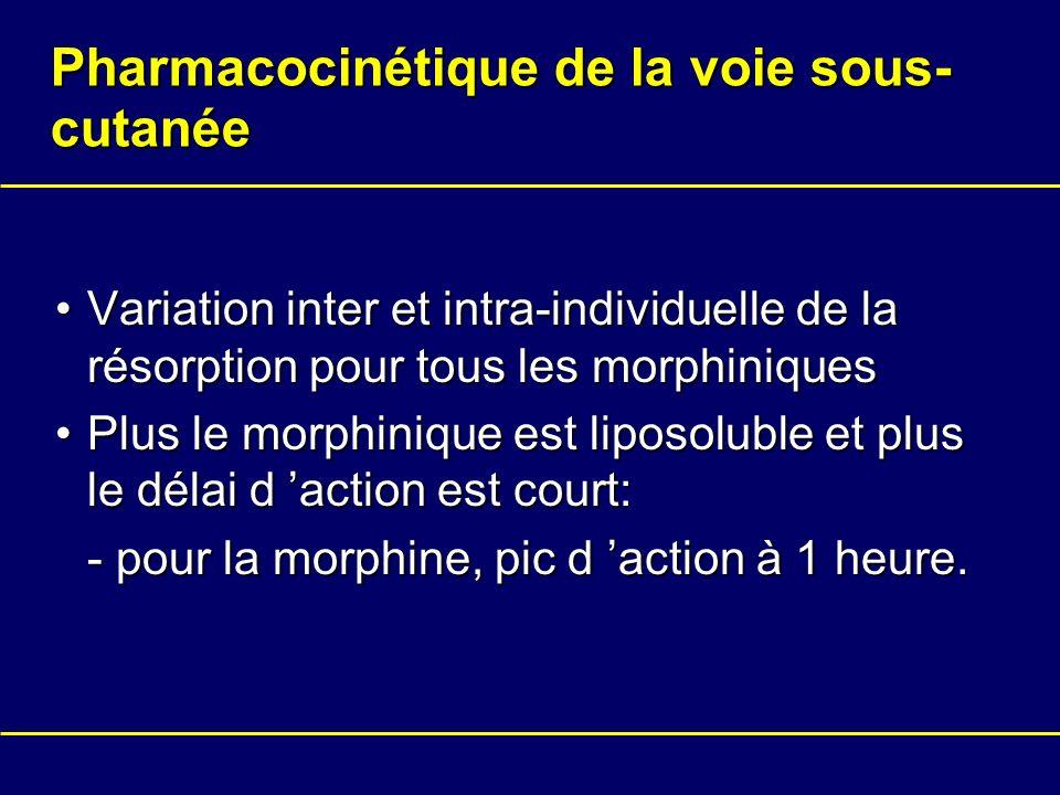 Pharmacocinétique de la voie sous-cutanée