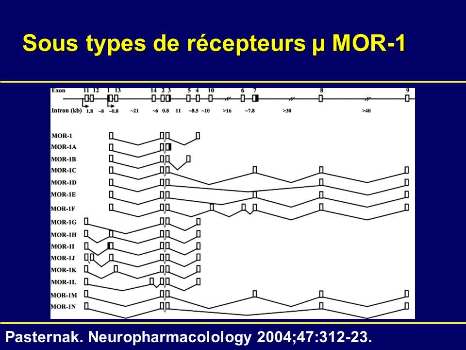 Sous types de récepteurs µ MOR-1