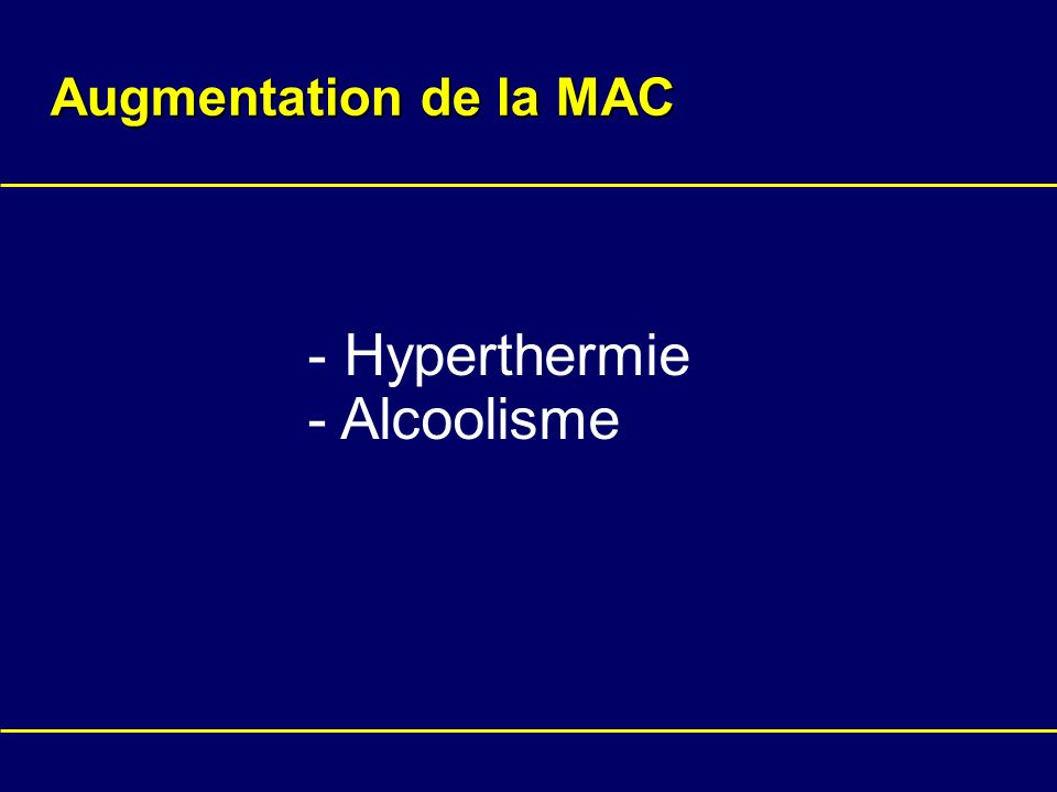 Augmentation de la MAC - Hyperthermie Alcoolisme