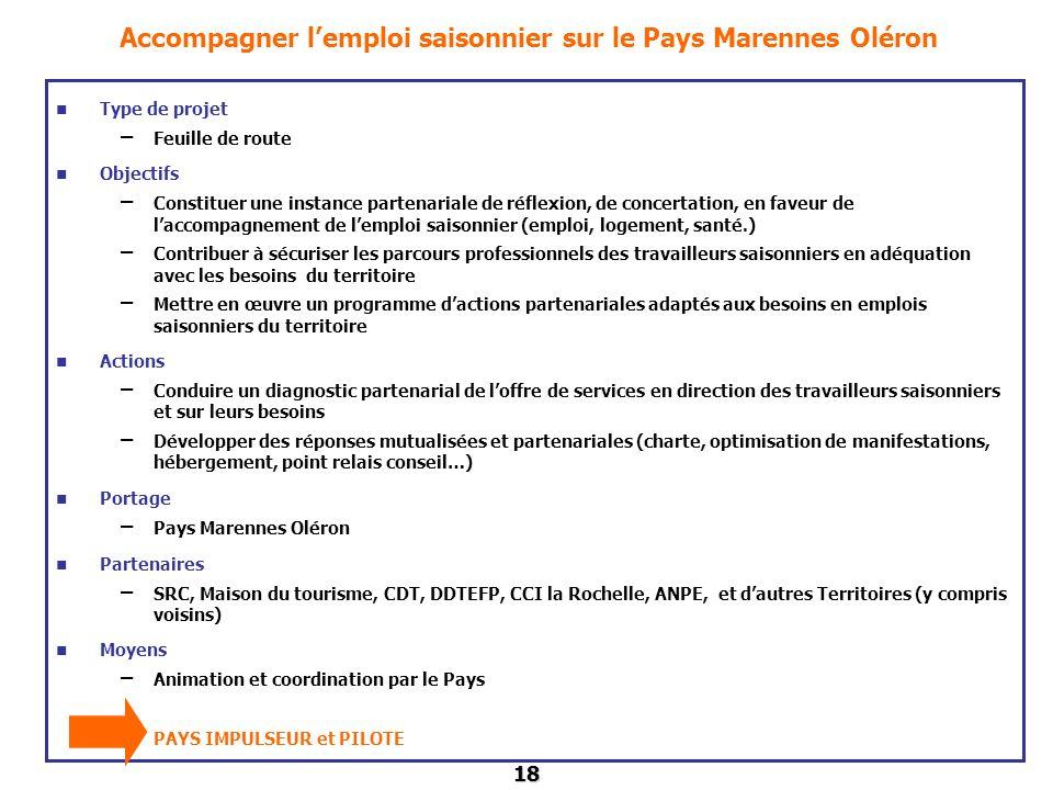 Accompagner l'emploi saisonnier sur le Pays Marennes Oléron
