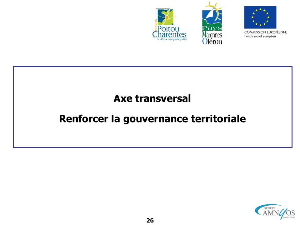 Renforcer la gouvernance territoriale