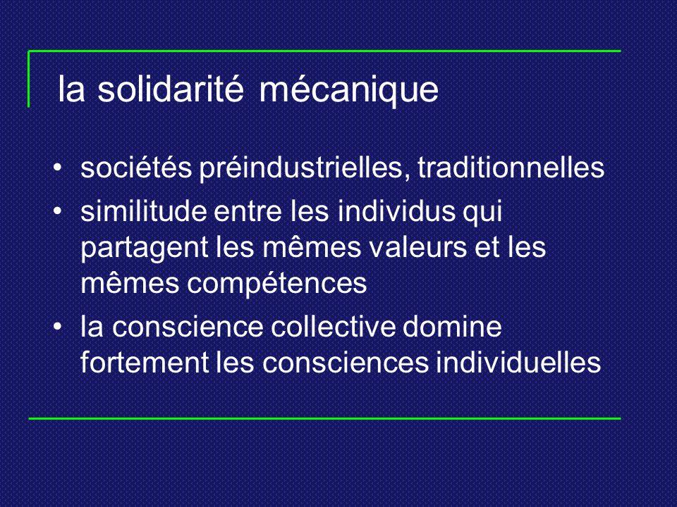 la solidarité mécanique