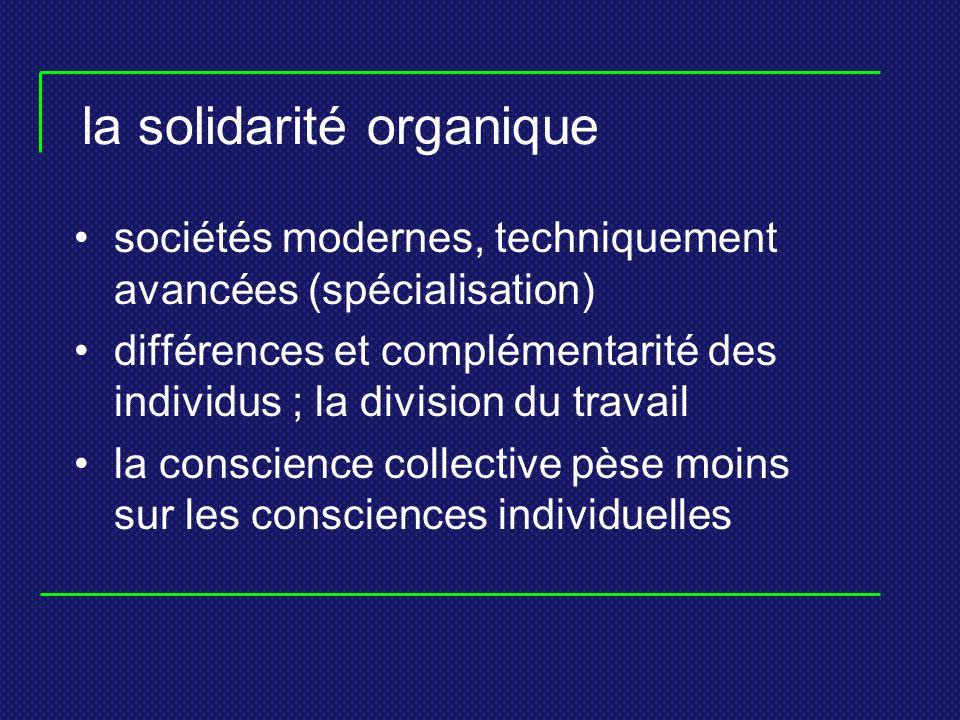 la solidarité organique