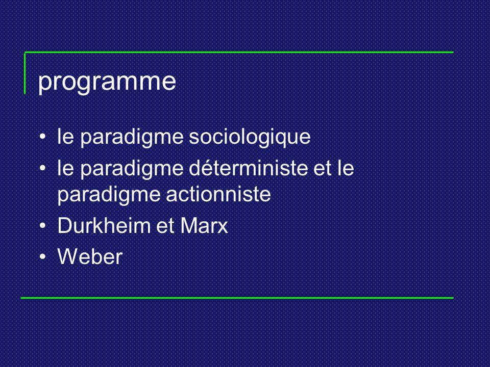 programme le paradigme sociologique