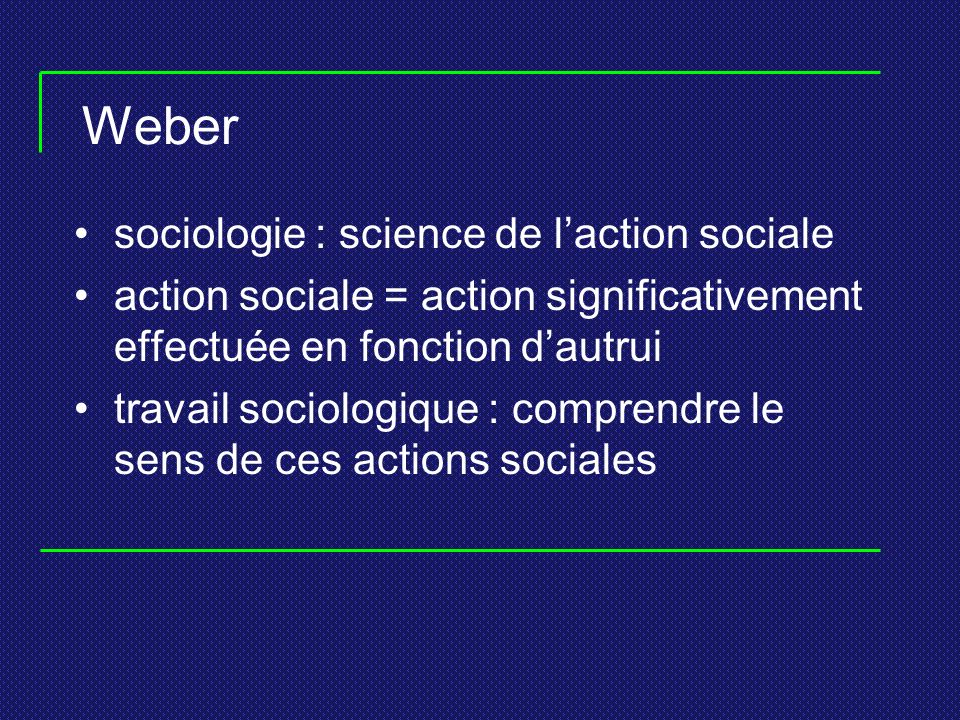 Weber sociologie : science de l'action sociale