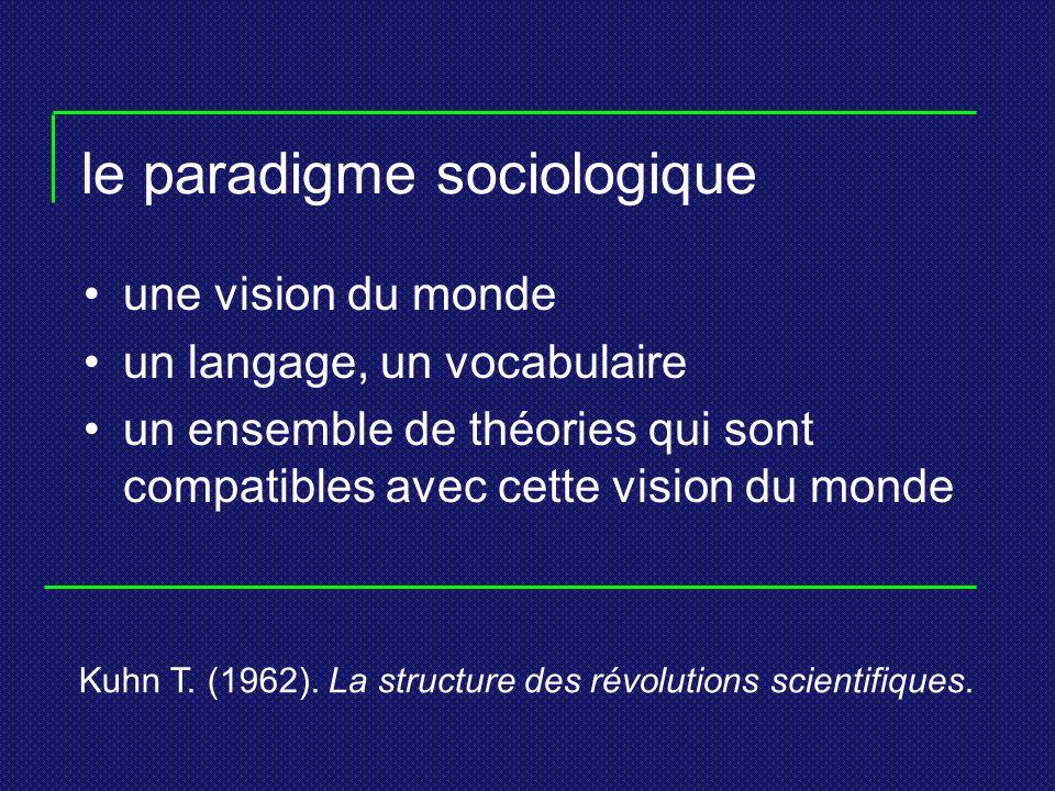 le paradigme sociologique