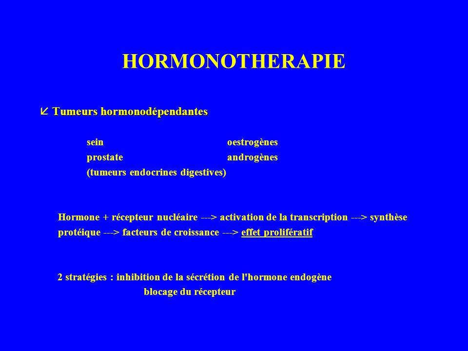 HORMONOTHERAPIE  Tumeurs hormonodépendantes sein oestrogènes