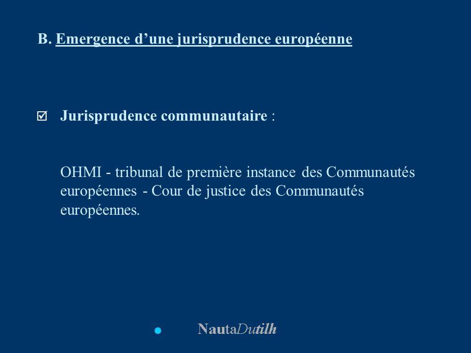 B. Emergence d'une jurisprudence européenne