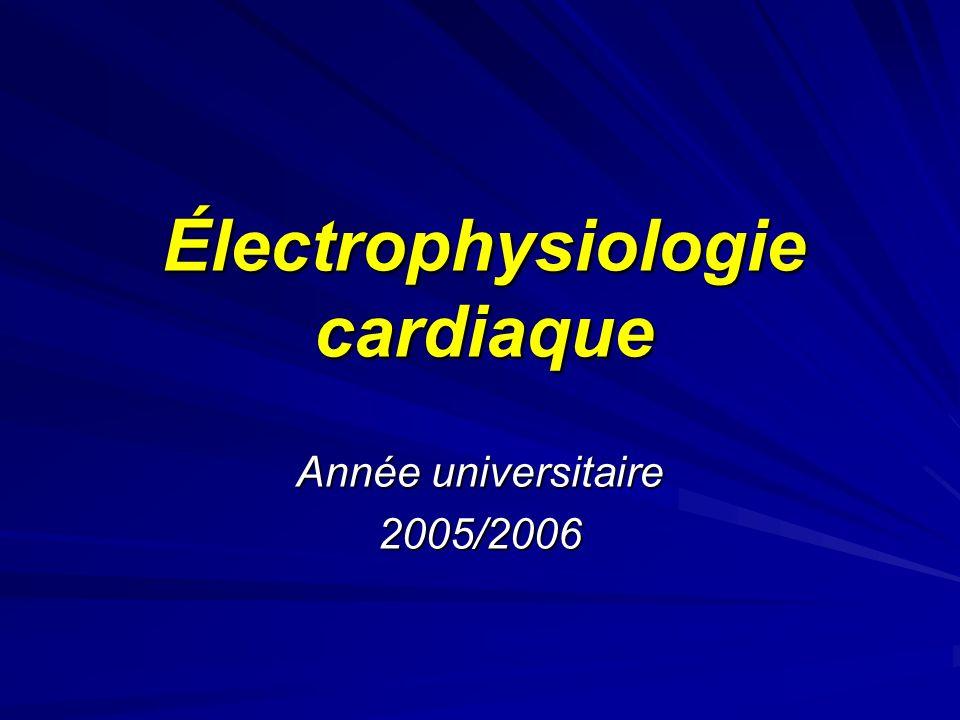 Électrophysiologie cardiaque