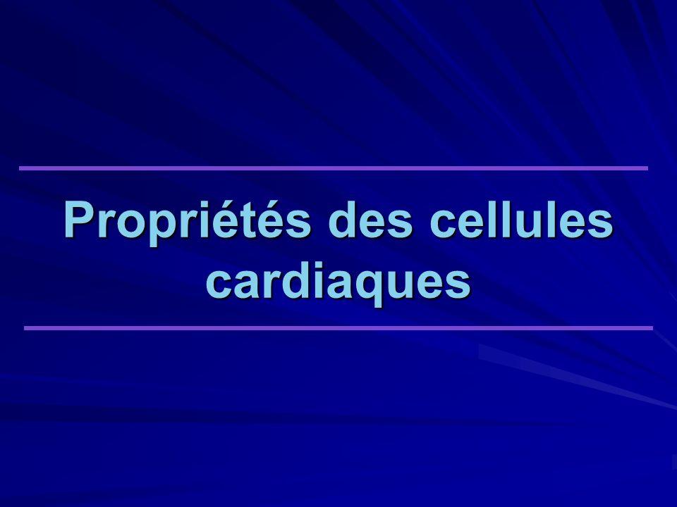 Propriétés des cellules cardiaques