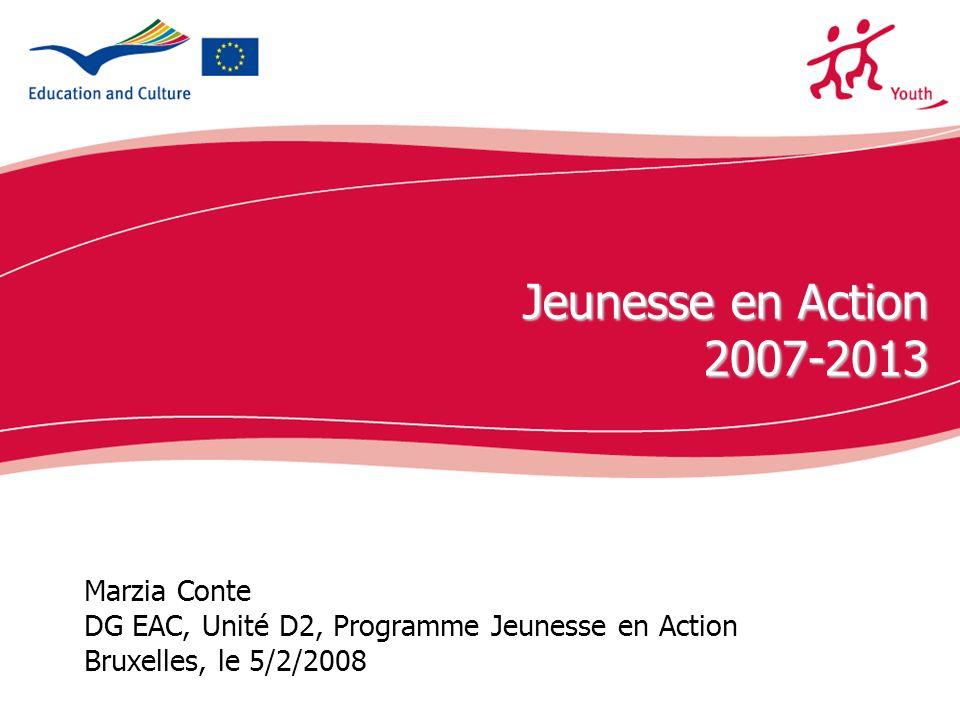 Jeunesse en Action 2007-2013 Marzia Conte