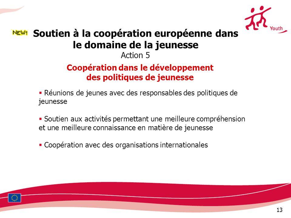 Soutien à la coopération européenne dans le domaine de la jeunesse