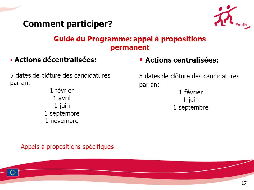 Guide du Programme: appel à propositions permanent