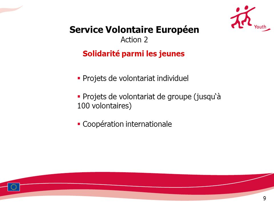 Service Volontaire Européen Solidarité parmi les jeunes