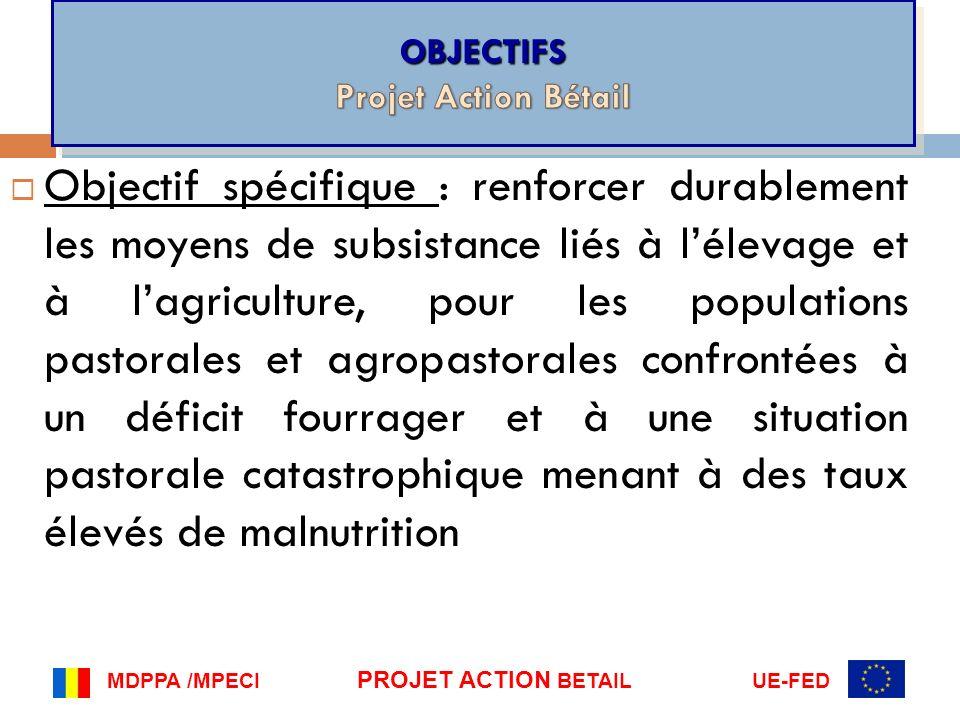 OBJECTIFS Projet Action Bétail.