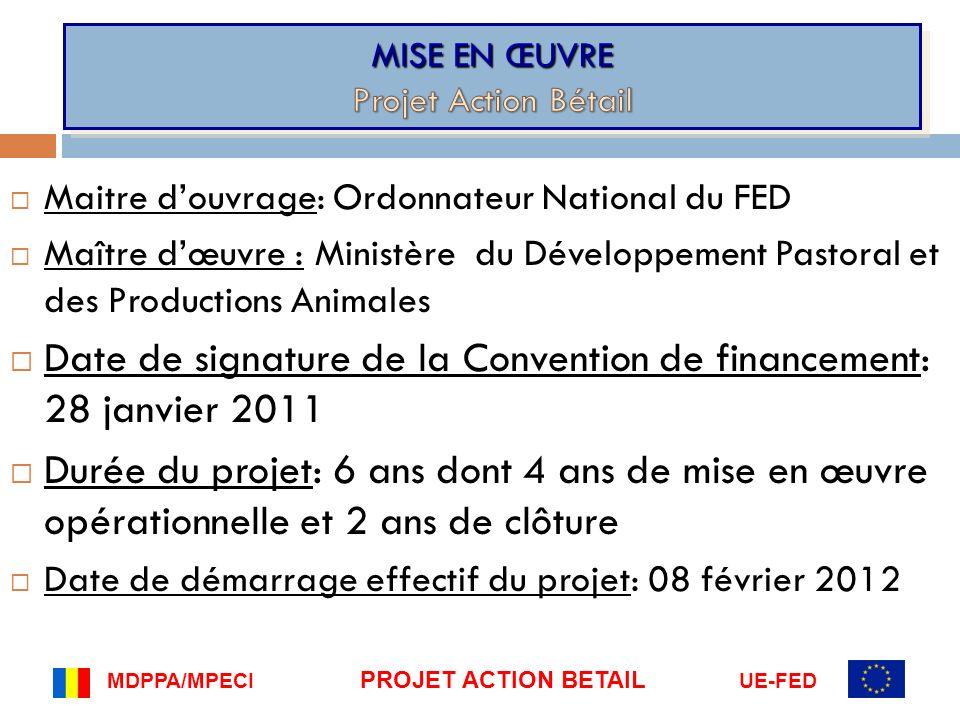 MISE EN ŒUVRE Projet Action Bétail