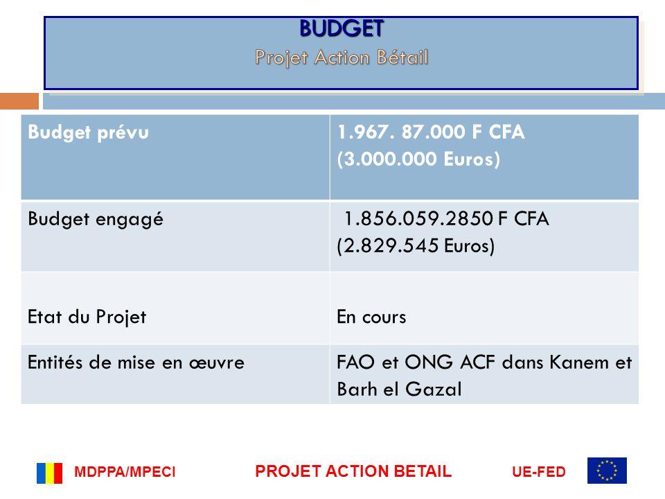 BUDGET Projet Action Bétail