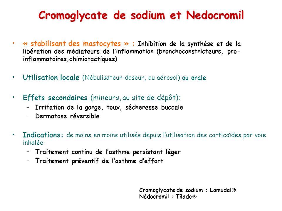 Cromoglycate de sodium et Nedocromil