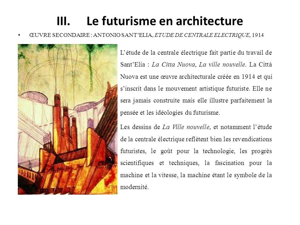 III. Le futurisme en architecture