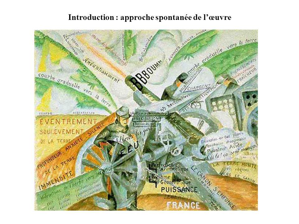 Introduction : approche spontanée de l'œuvre
