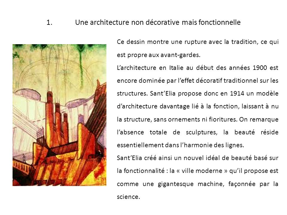 1. Une architecture non décorative mais fonctionnelle