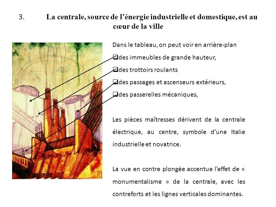 3. La centrale, source de l'énergie industrielle et domestique, est au cœur de la ville