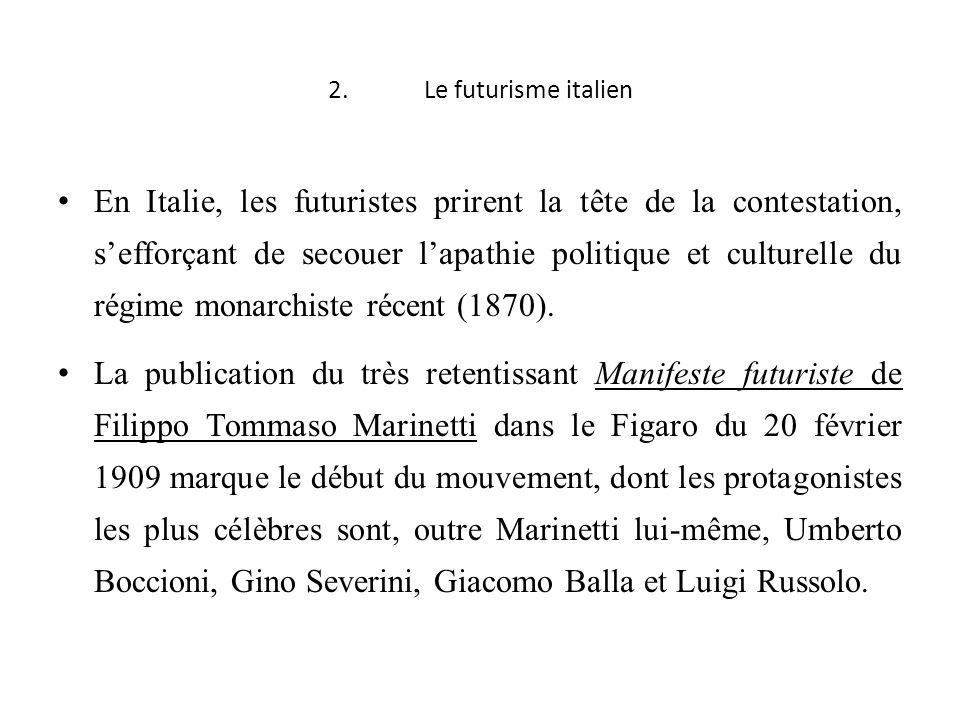 2. Le futurisme italien