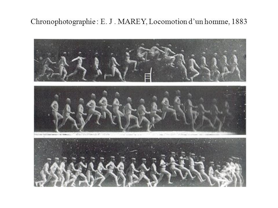 Chronophotographie : E. J . MAREY, Locomotion d'un homme, 1883