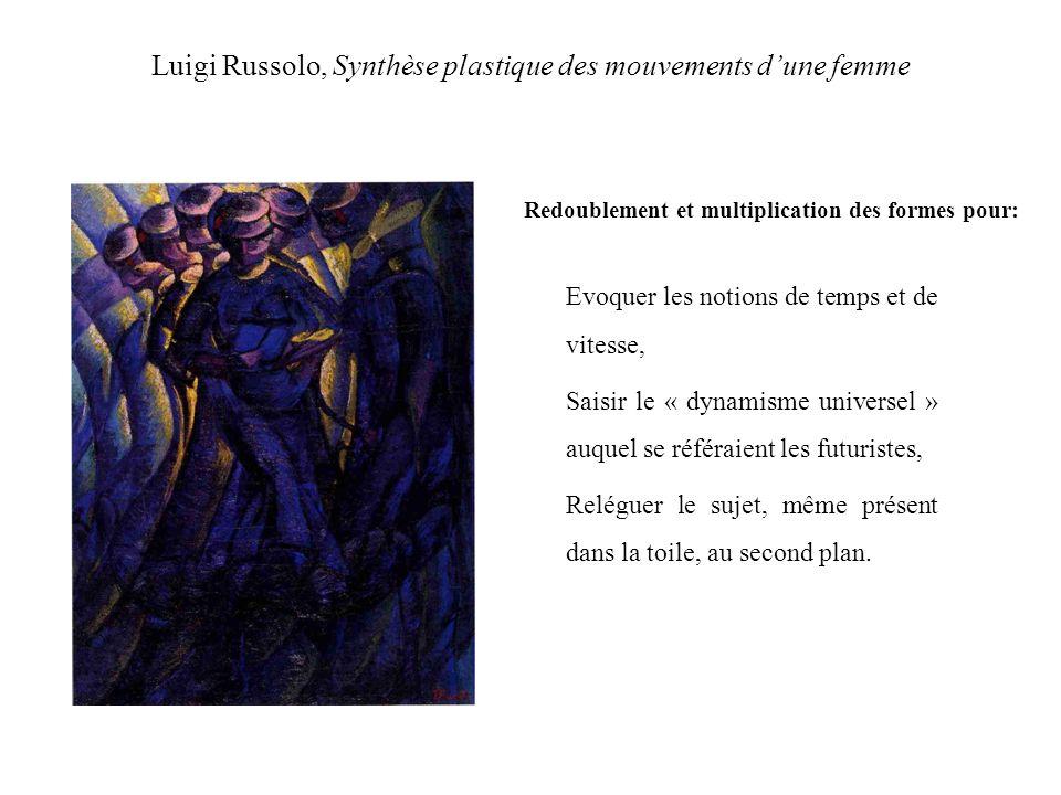 Luigi Russolo, Synthèse plastique des mouvements d'une femme