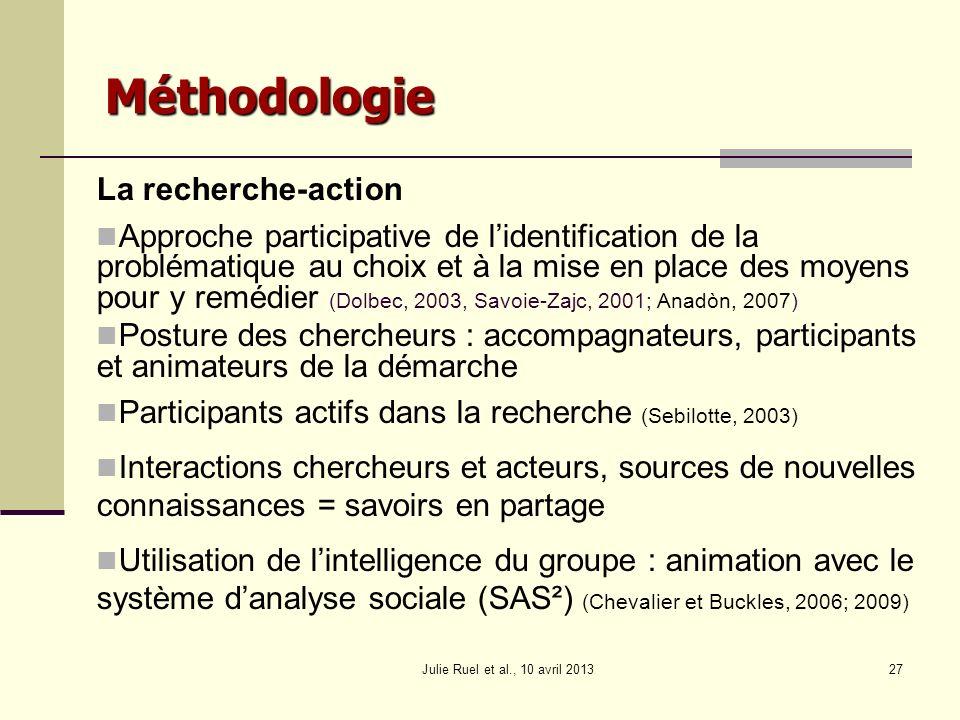 Méthodologie La recherche-action
