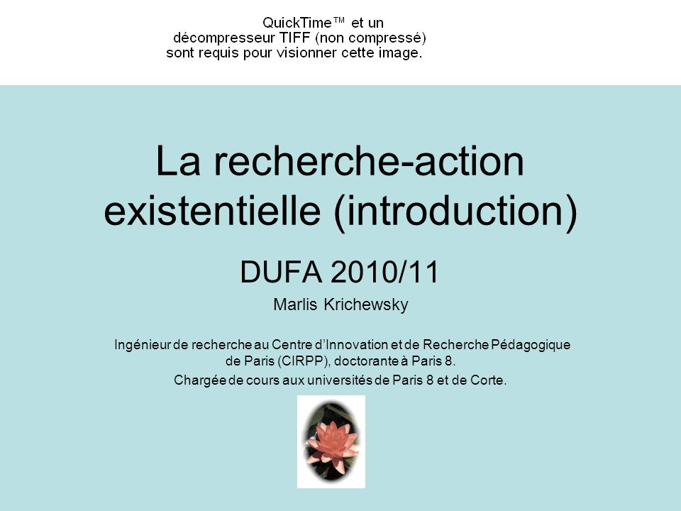 La recherche-action existentielle (introduction)
