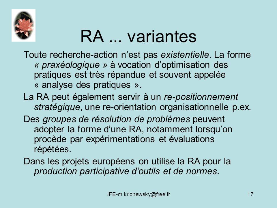 RA ... variantes