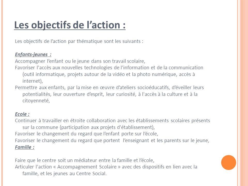Les objectifs de l'action :