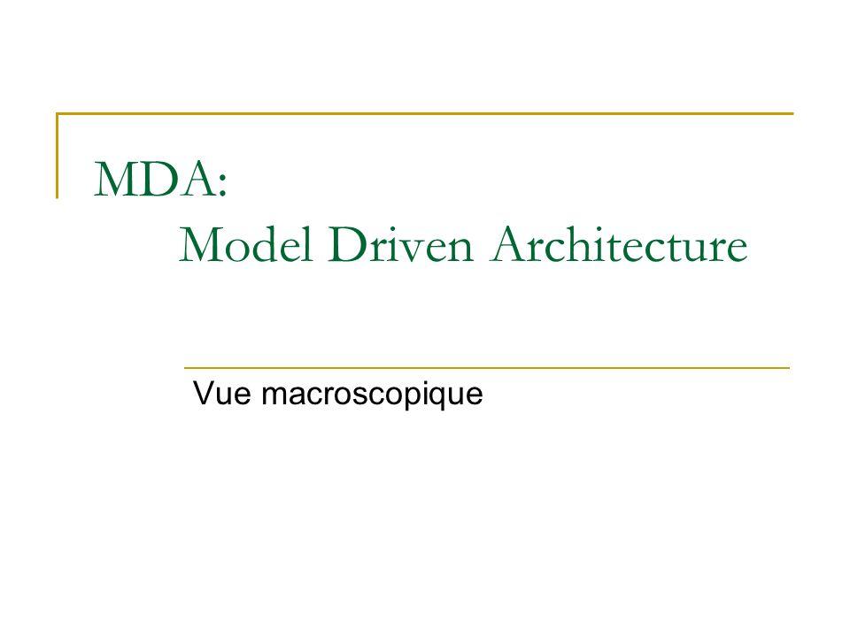 MDA: Model Driven Architecture