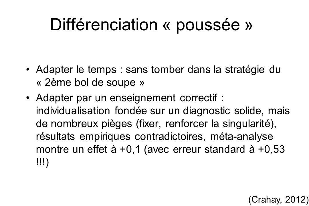 Différenciation « poussée »