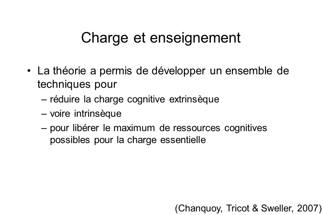 Charge et enseignement