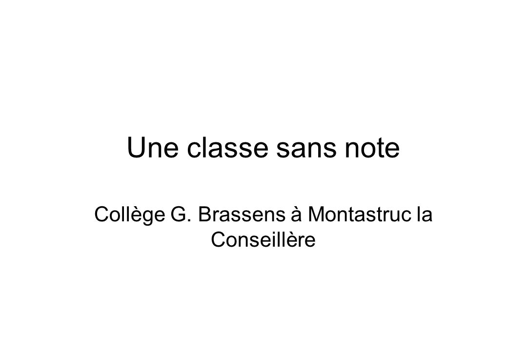 Collège G. Brassens à Montastruc la Conseillère