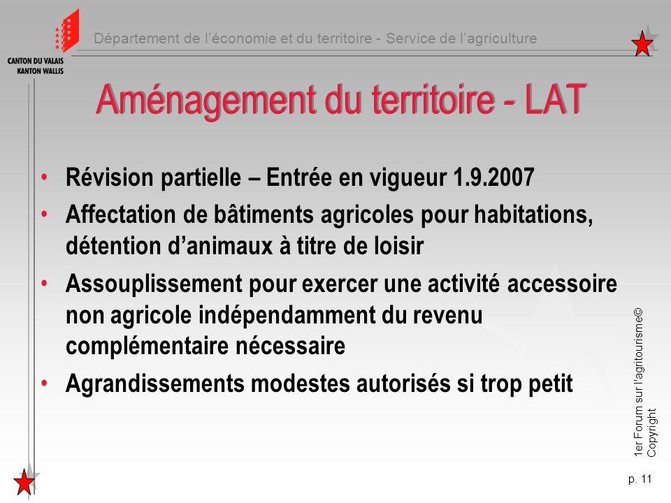 Aménagement du territoire - LAT