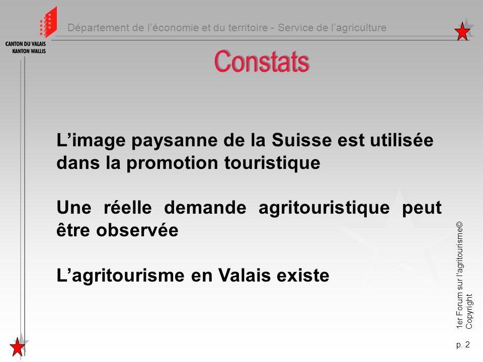 Constats L'image paysanne de la Suisse est utilisée