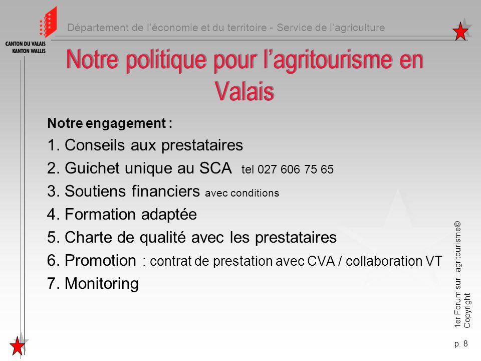 Notre politique pour l'agritourisme en Valais