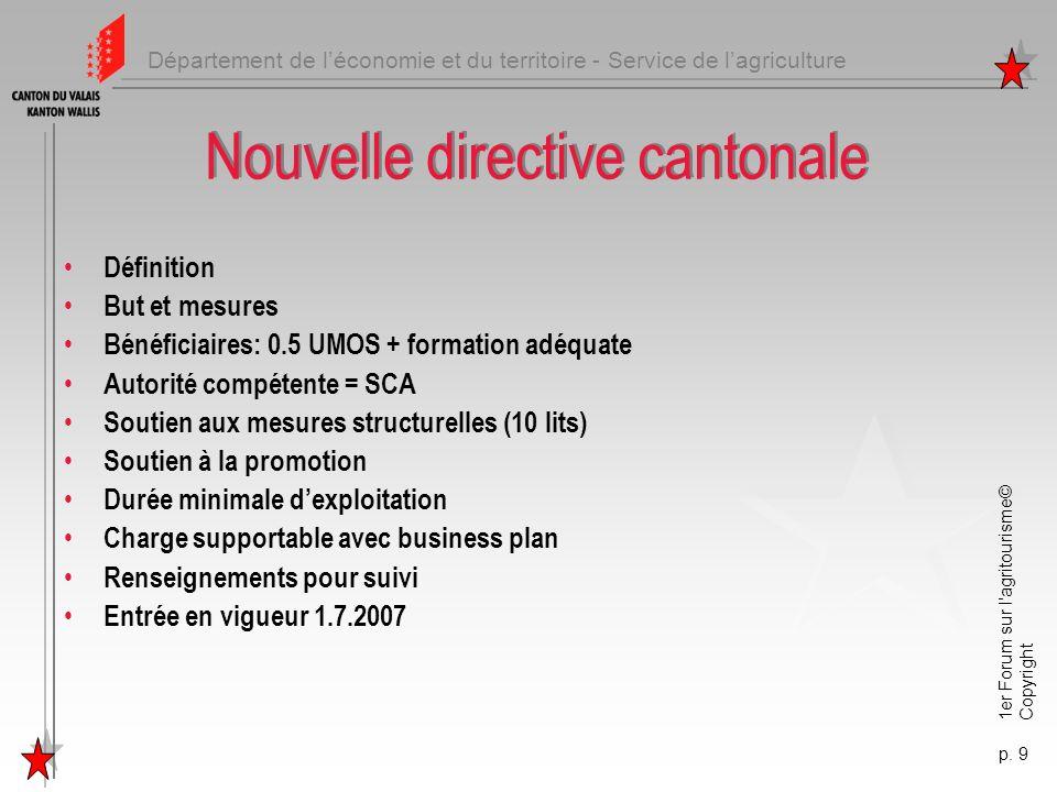 Nouvelle directive cantonale