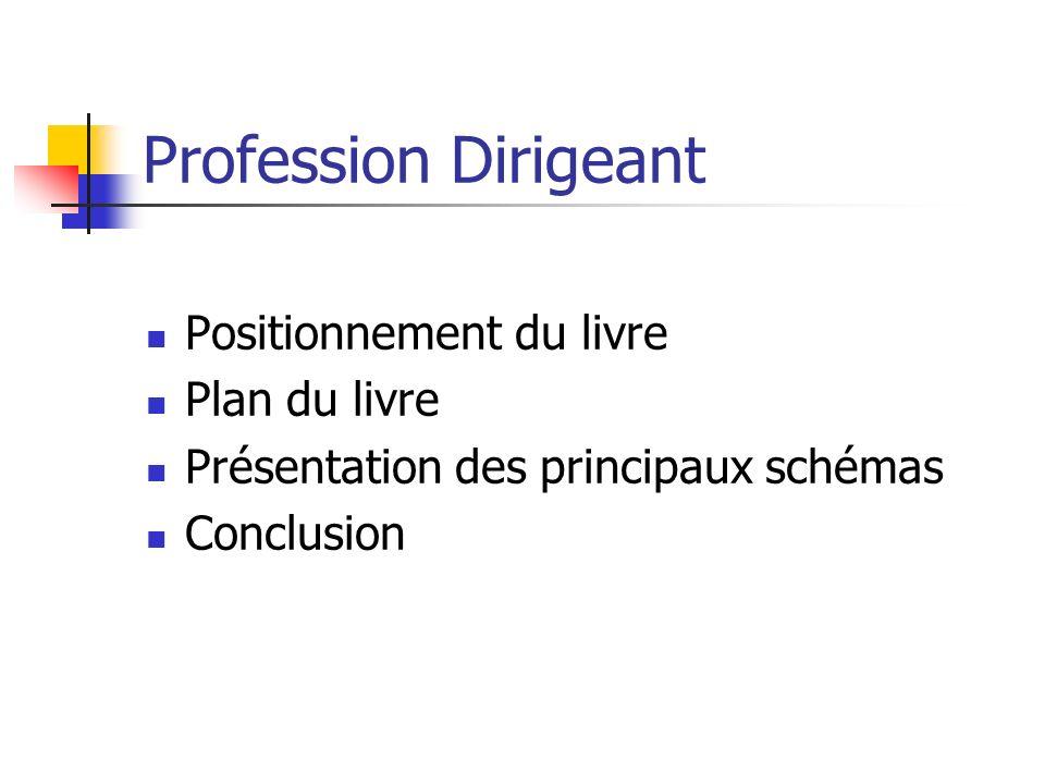Profession Dirigeant Positionnement du livre Plan du livre