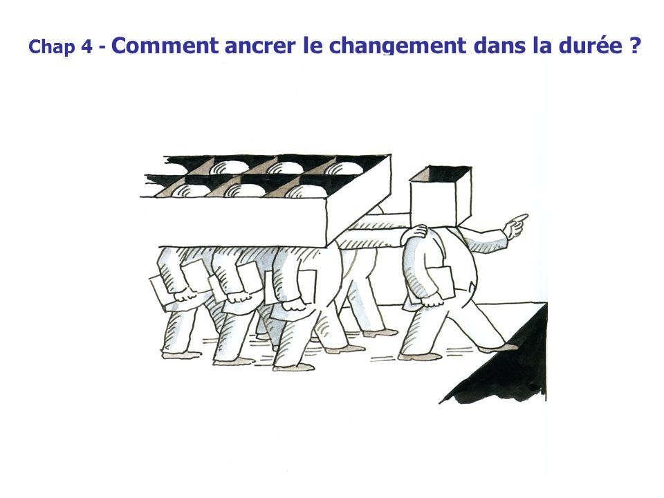Chap 4 - Comment ancrer le changement dans la durée