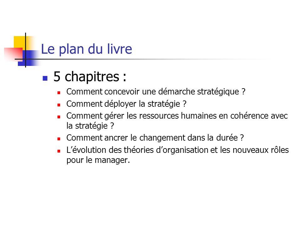 Le plan du livre 5 chapitres :